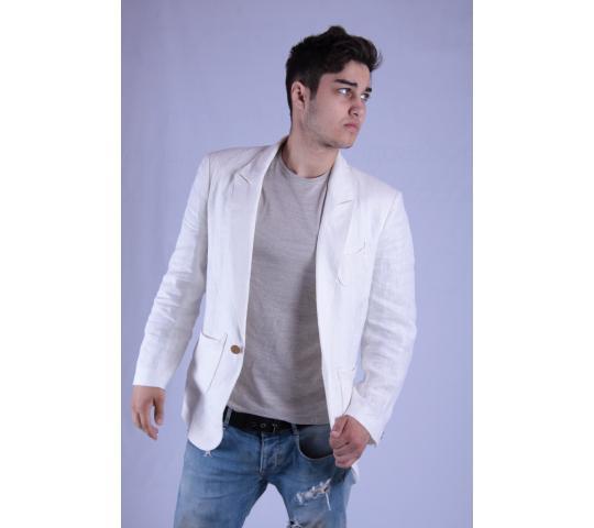 5daf8f7864fe Белый пиджак из льна от производителя Fashion Penza. Каталог 2019 ...