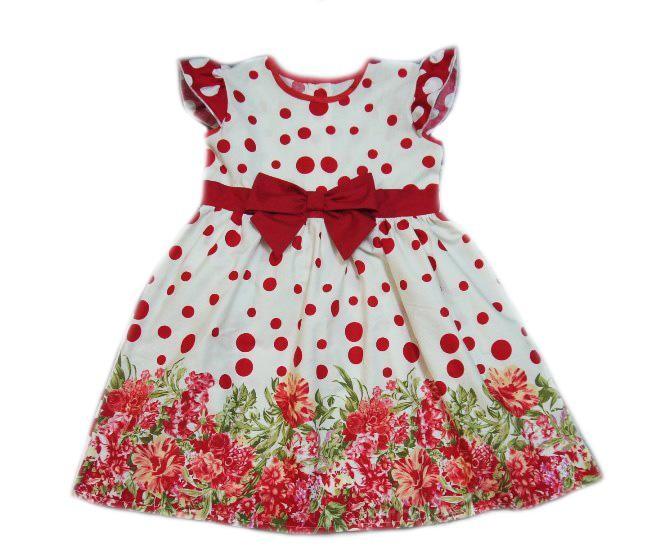 Описание детского платья из хлопка