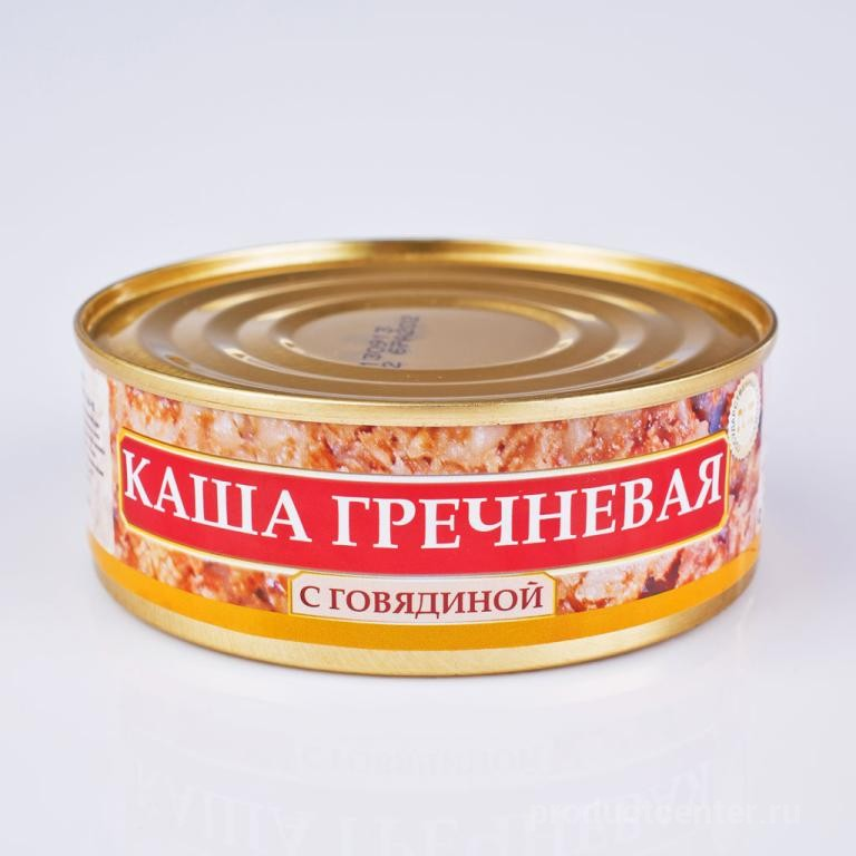 Каша ГРЕЧНЕВАЯ с говядиной ГОСТ 250 гр