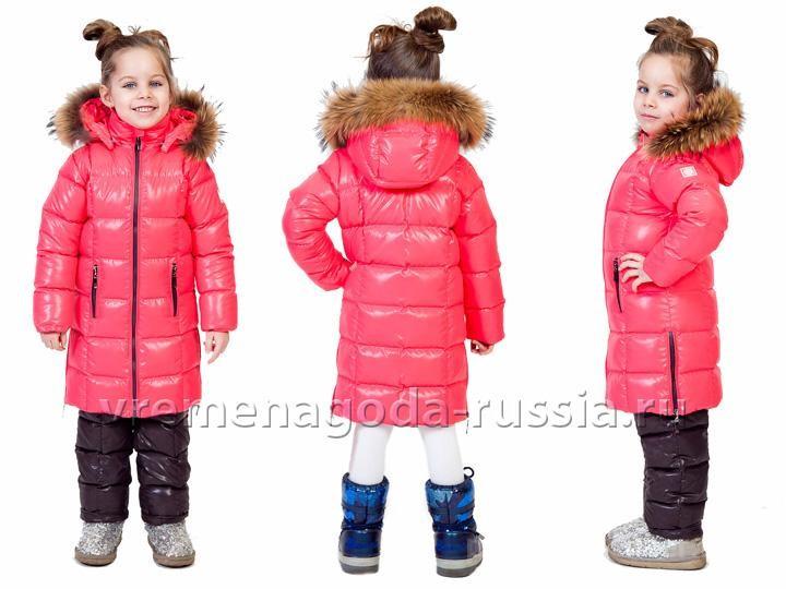 619599271bc Фото 3 Детское зимнее пальто с полукомбинезоном на пуху для девочки