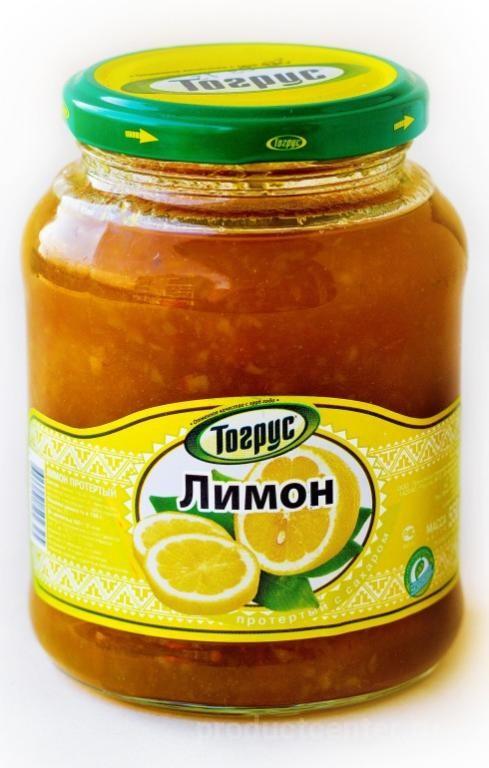 Протертые лимоны с сахаром