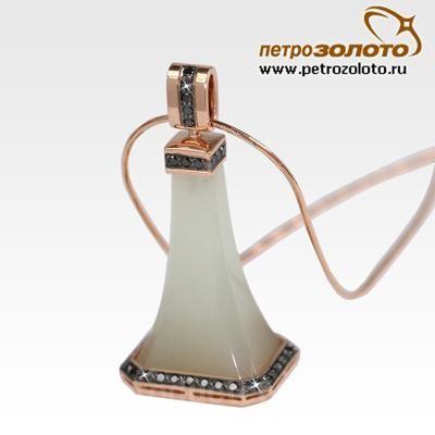 fc723095e6e4 Золотой кулон с цепью от производителя Производитель ювелирных ...