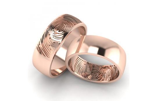 Обручальные кольца с отпечатками пальцев от производителя Ювелирная ... 55062075bb6