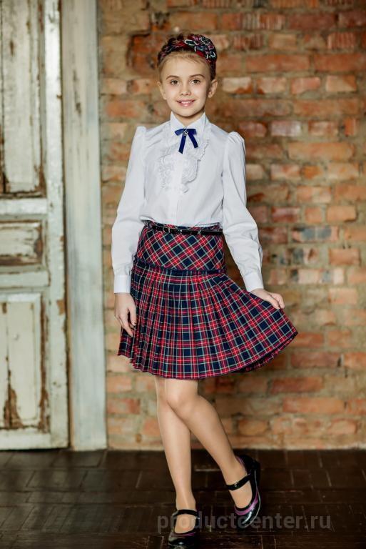 Школьная форма для девочек с юбкой плиссе