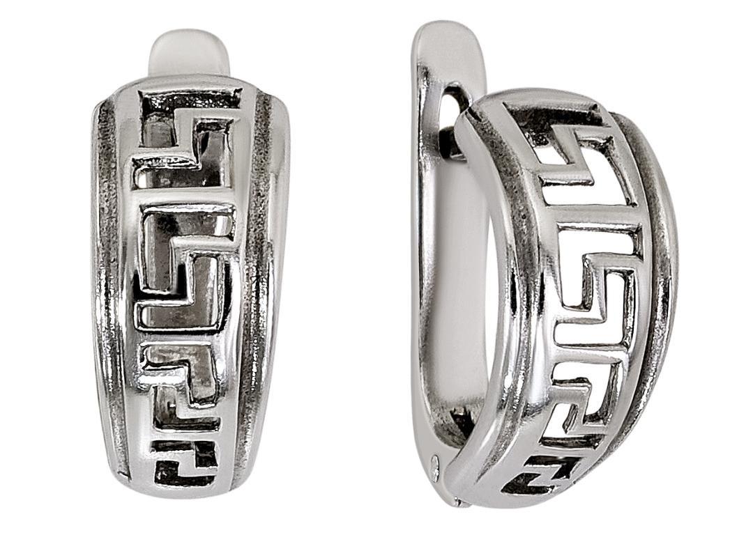 2d9a0bed1289 Серьги серебряные с родиевым покрытием и позолотой от производителя ...
