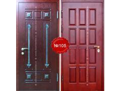 стальные двери от производителя с элементами ковки