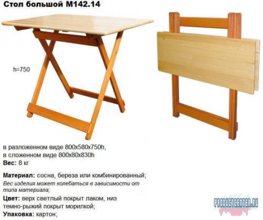Как сделать складной стол из дерева своими руками