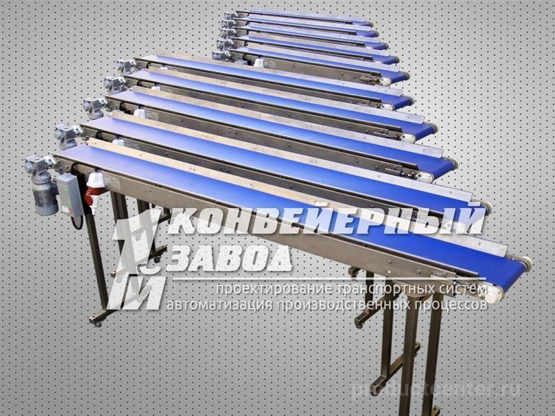 Конвейер ленточный для штучных грузов наклонные транспортеры зерна