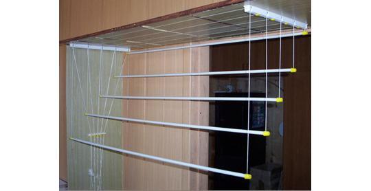 Вешалка для сушки белья на балконе - всё о балконе.