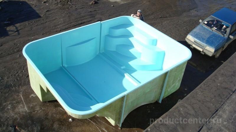 Изготовление бассейна из стекловолокна