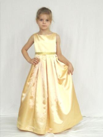 Платье для девочек из атласа