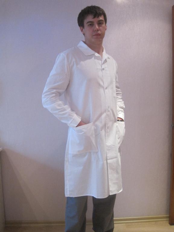 Халат медицинский мужской бязь отб. Гост дл. Рукав.